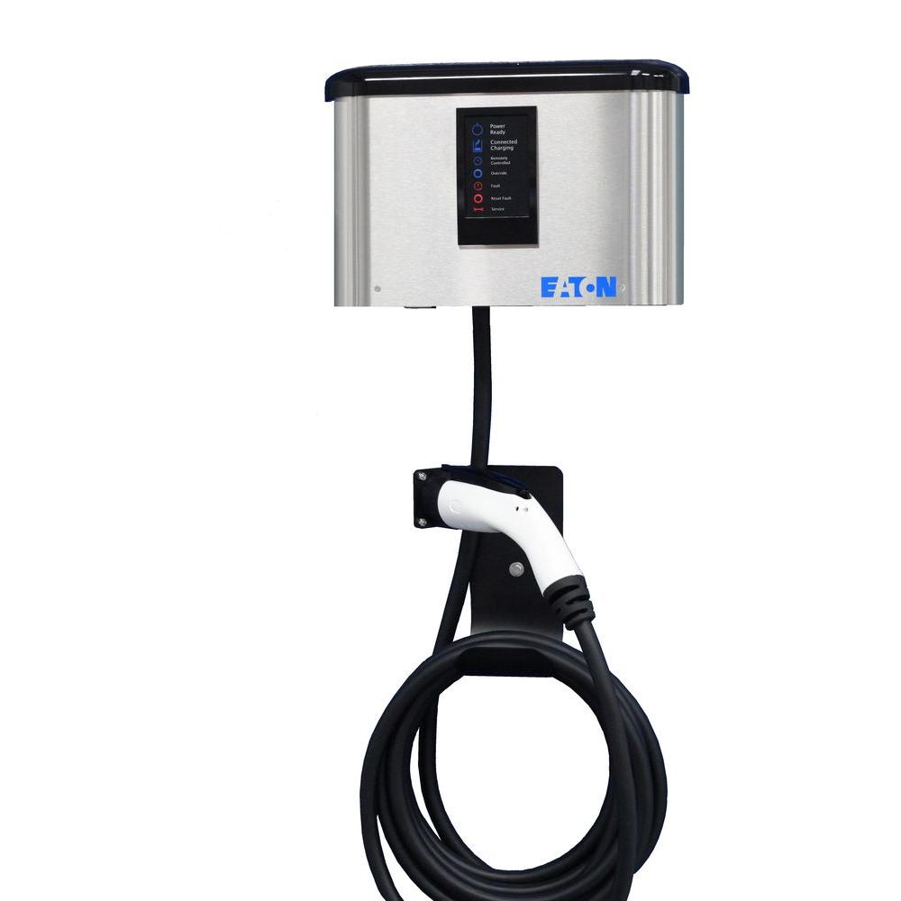 Eaton Level 2 30 Amp Wall Mounted Electric Vehicle Charger (Hardwired)