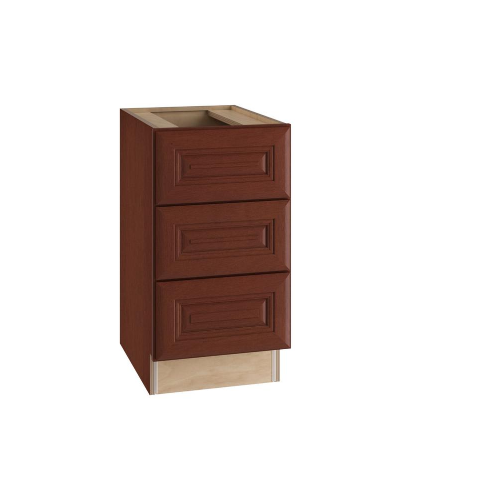 Home Decorators Collection Lyndhurst Assembled 15x28.5x21 in. 3 Drawers  Base Desk Cabinet in Cabernet