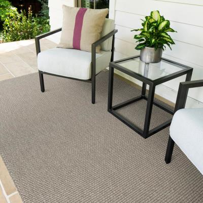 Ardea Frost 10 ft. x 14 ft. Solid Indoor/Outdoor Area Rug
