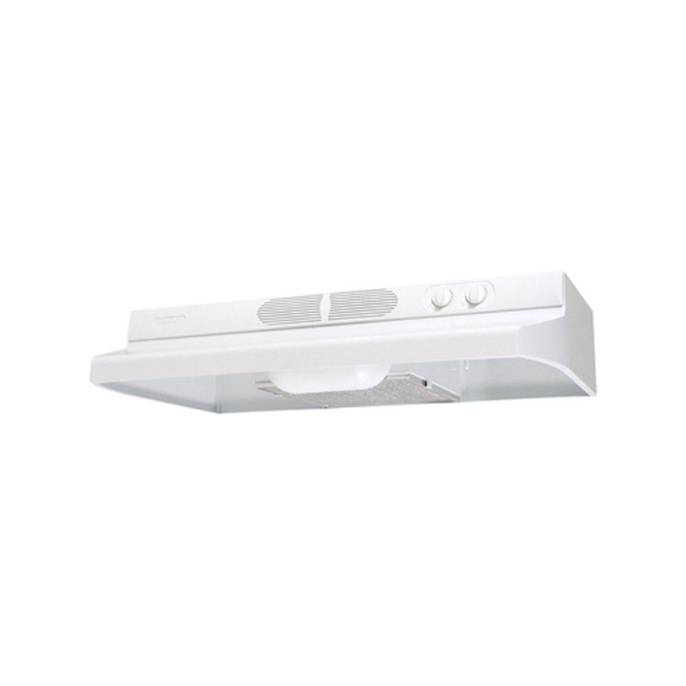 Air King Quiet Zone 36 in. Under Cabinet Convertible Range Hood with Light in White The Quiet Zone Series Under Cabinet Range Hoods feature a low profile contemporary style while still properly ventilating the kitchen. With multiple finishes and size options, Air King provides the quiet solution. Ideal for your kitchen ventilation needs. Color: White.