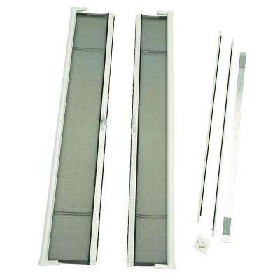 Tall height Retractable Screen Door in bronze for Single Inswing Door
