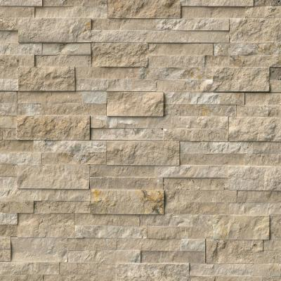 Durango Cream Split Face Ledger Panel 6 in. x 24 in. Travertine Wall Tile (10 cases / 60 sq. ft. / pallet)