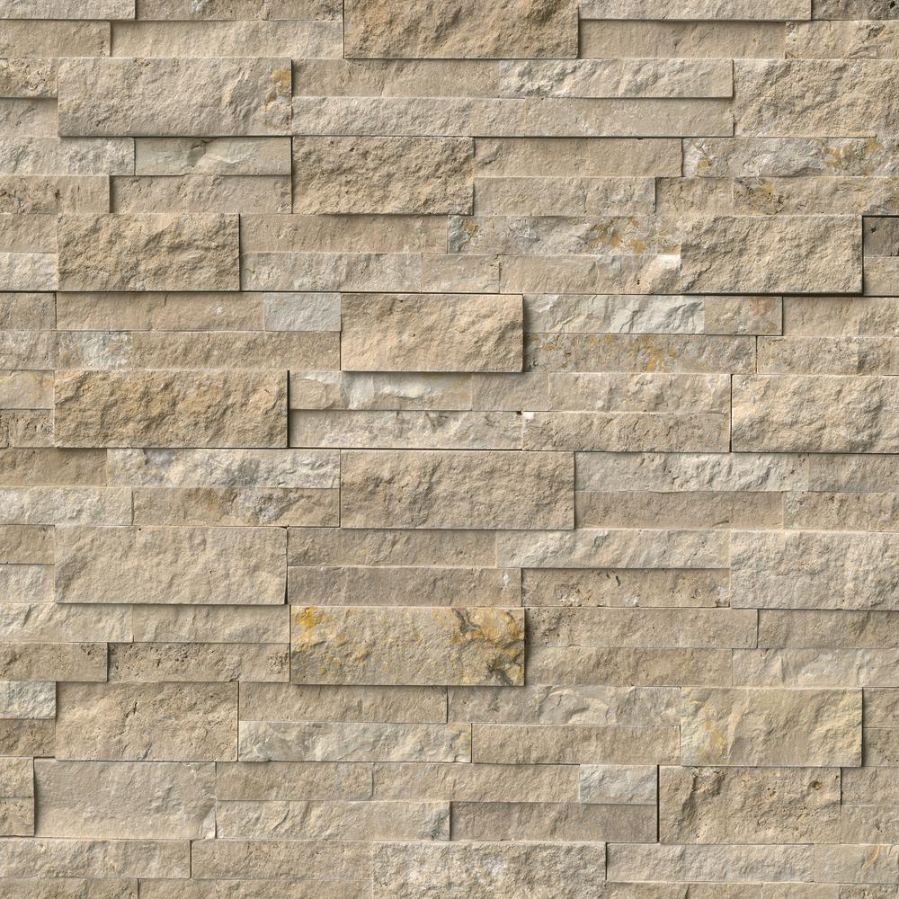 Durango Cream Split Face Ledger Panel 6 in. x 24 in. Travertine Wall Tile (10 cases / 60 sq. ft. / pallet)