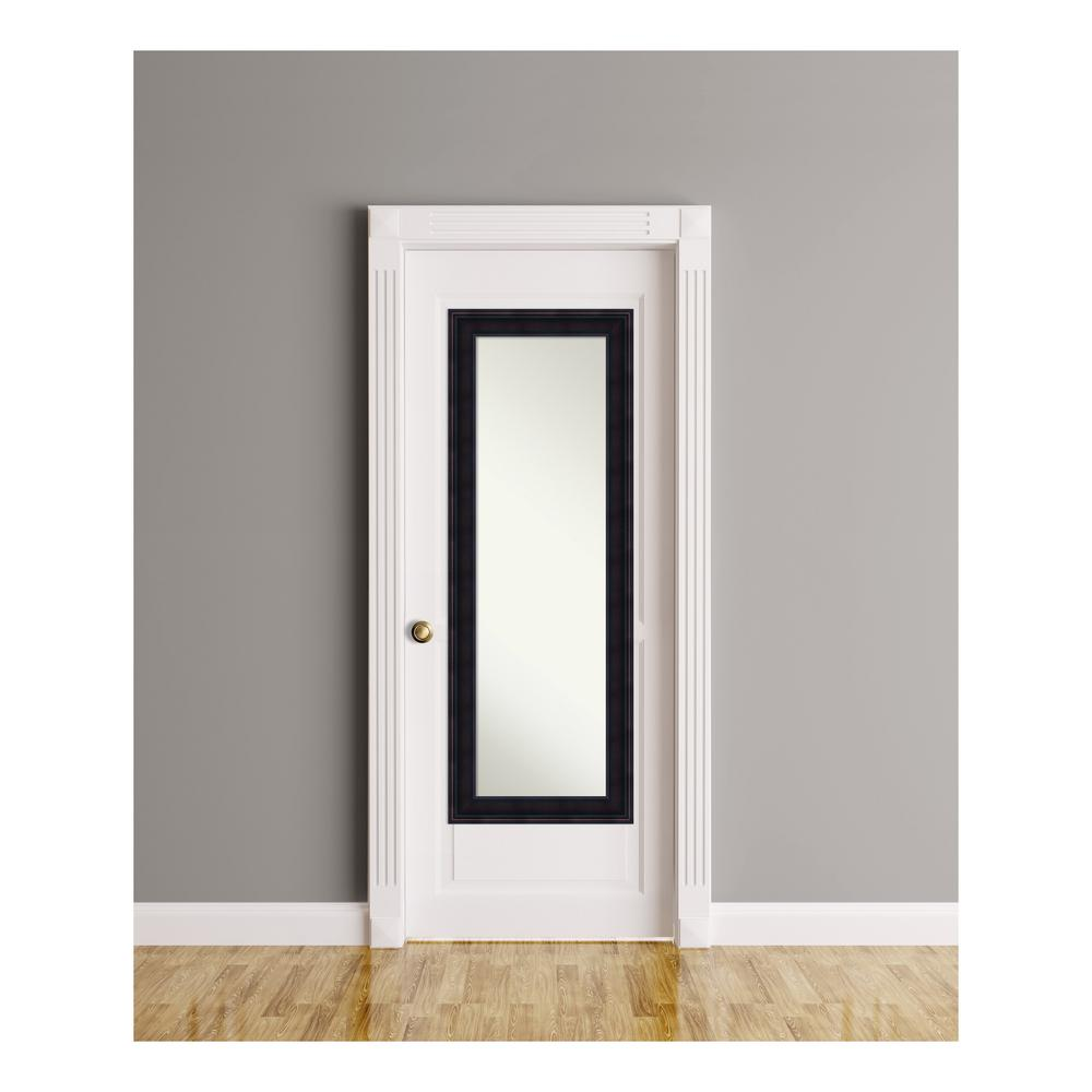 Annatto Mahogany Wood 19 in. W x 53 in. H On The Door Mirror