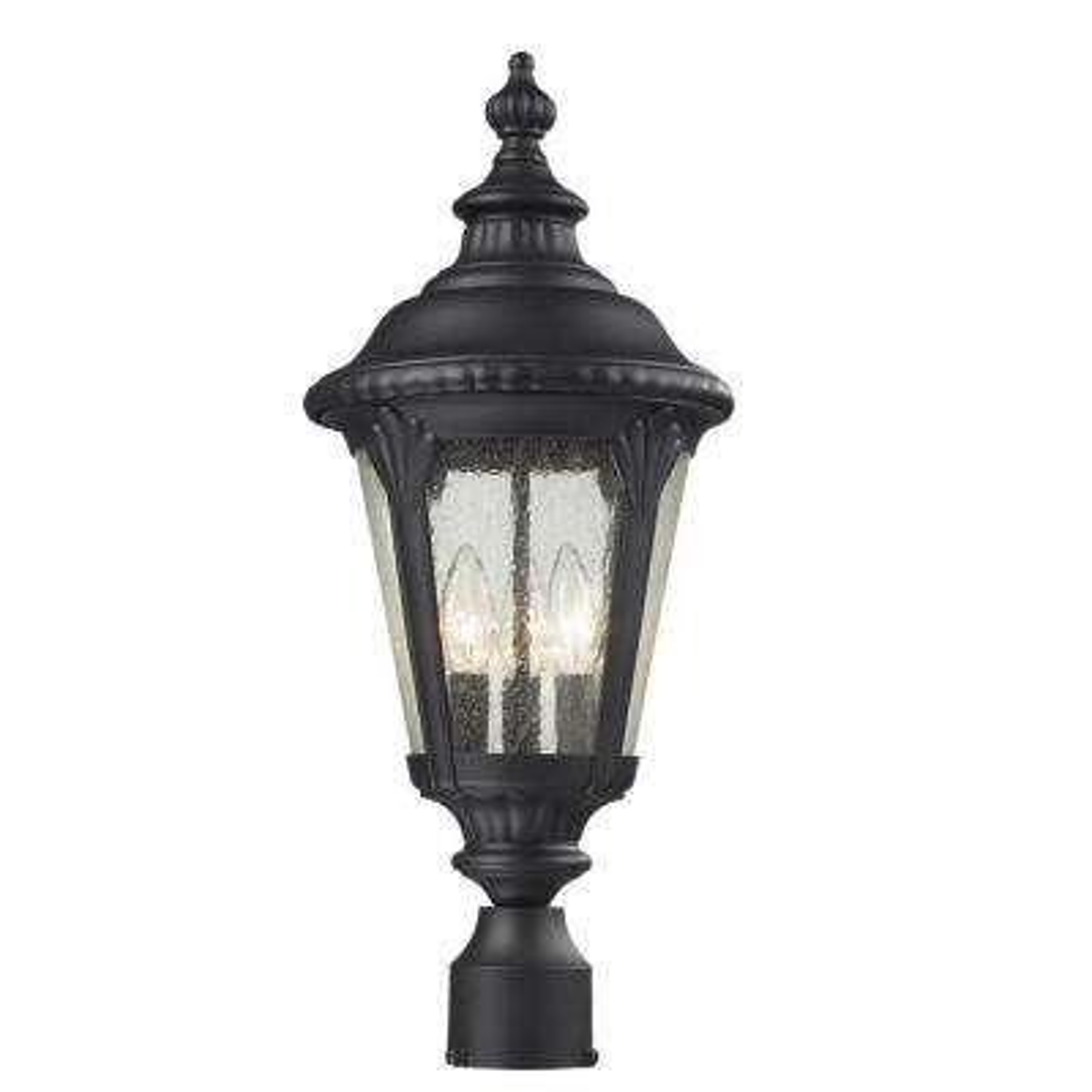 Lawrence 3-Light Outdoor Black Incandescent Post Light