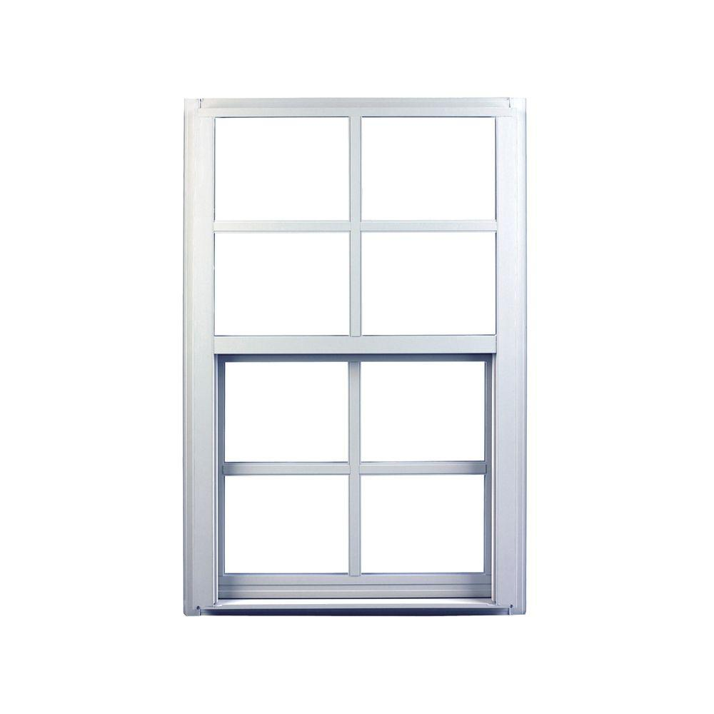 Ply Gem 31 25 In X 59 Single Hung Aluminum Window White