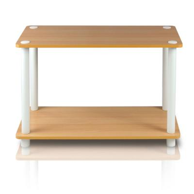 Turn-N-Tube Beech End Table with Shelf (2-Pack)