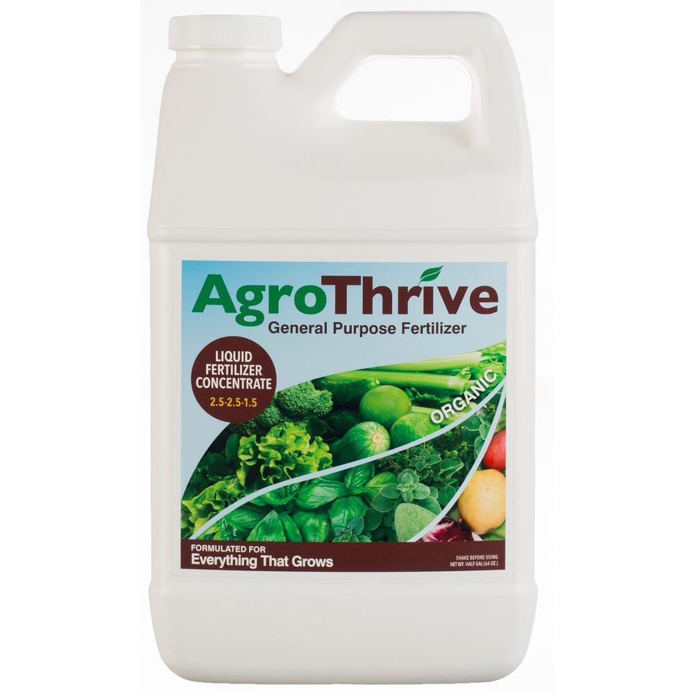 AgroThrive AgroThrive 1 Gal  General Purpose Organic Liquid Fertilizer