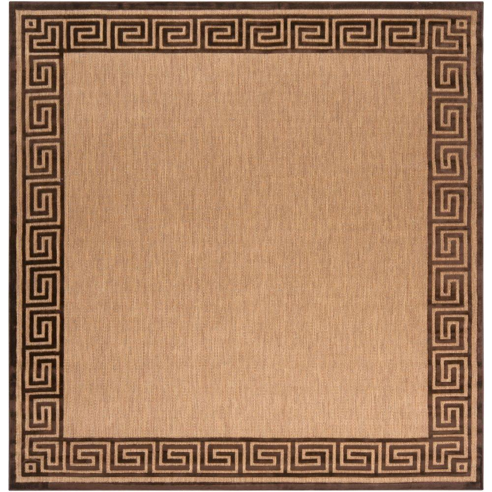 Garza Natural 7 ft. 6 in. Square Area Rug