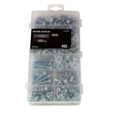 Zinc-Plated Machine Screw Kit (405-Piece)