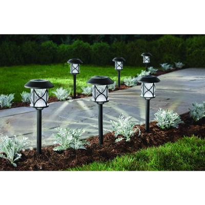 10 Lumens Solar Black LED Landscape Pathway Light Set (6-Pack)