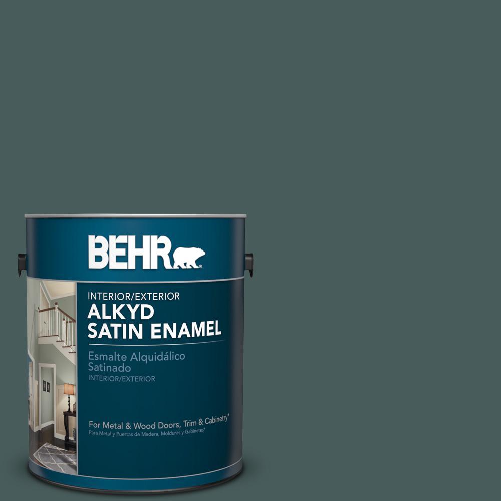 1 gal. #N430-7 Silken Pine Satin Enamel Alkyd Interior/Exterior Paint
