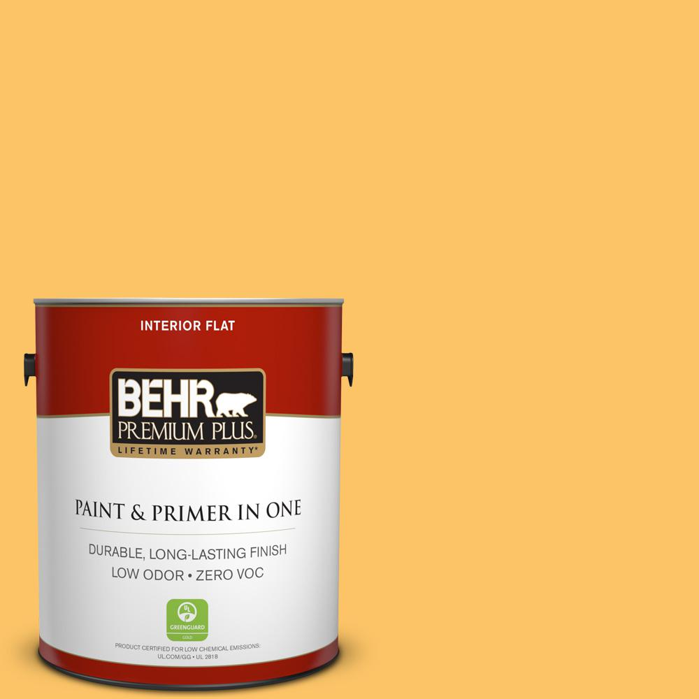 1 gal. #PPU6-06 Honey Locust Zero VOC Flat Interior Paint