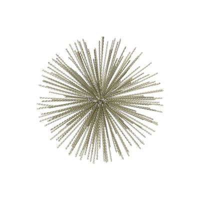 11.00 in. H Sculpture Decorative Sculpture in Champagne Coated