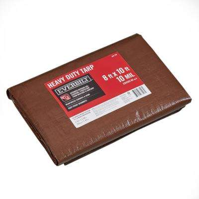 8 ft. x 10 ft. Silver/Brown Heavy-Duty Tarp