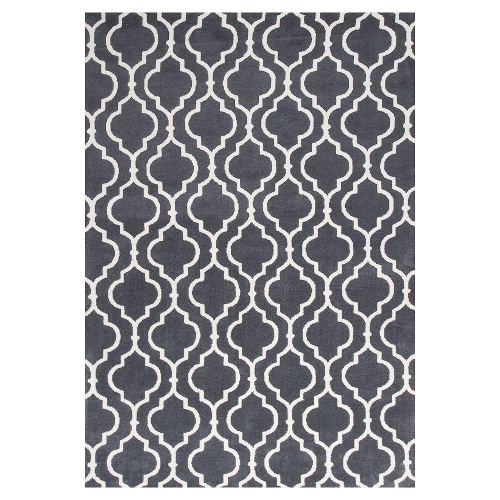 Kas Rugs Moroccan Black/Ivory 6 ft. 7 in. x 9 ft. 6 in. Area Rug
