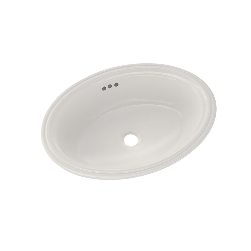 Toto Dartmouth 19 In Undermount Bathroom Sink In Colonial White Lt641 11 The Home Depot
