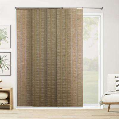 Cut-to-Width PanelTrack Blind Florence Henna Paper and Polyester Cordless 22 in. Vertical Blind - 80 in. W x 96 in. L
