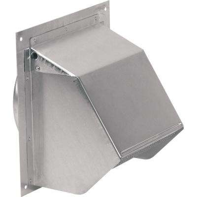 Aluminum Wall Cap for 7 in. Round Duct in Natural Finish
