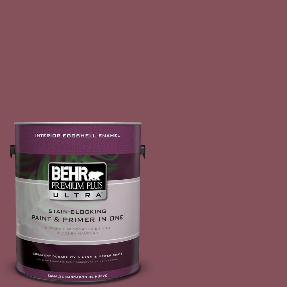 BEHR Premium Plus Ultra 1-Gal. #PPU1-15 So Merlot Eggshell Enamel Interior Paint