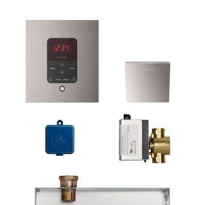 MS Butler Package with iTempo Pro Square Programmable Control for Steam Bath Generator in Brushed Nickel