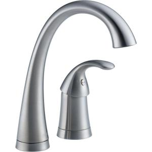 Pilar Waterfall Single-Handle Bar Faucet in Arctic Stainless