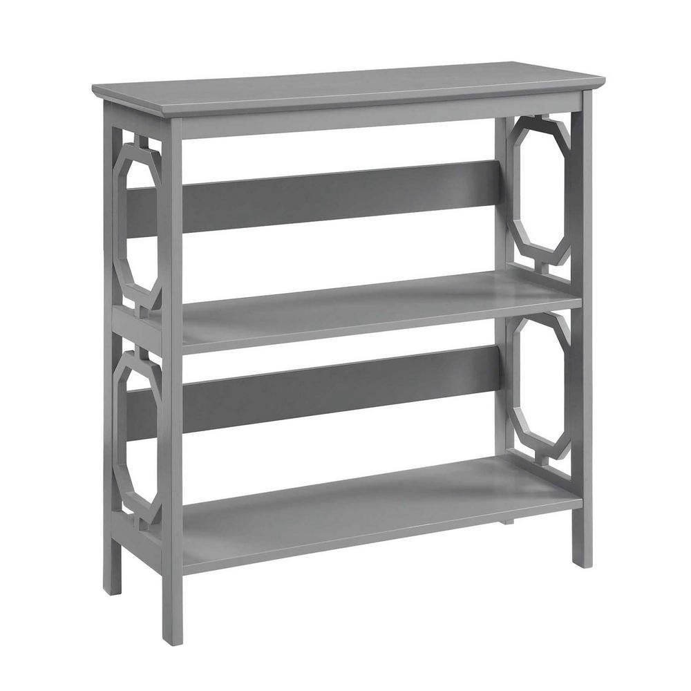 Omega Gray 3-Tier Bookcase