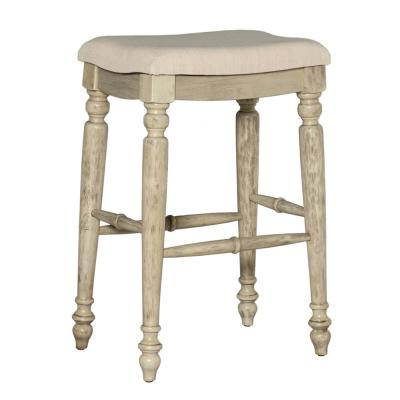 Marino 30 in. White Wash Backless Bar Stool