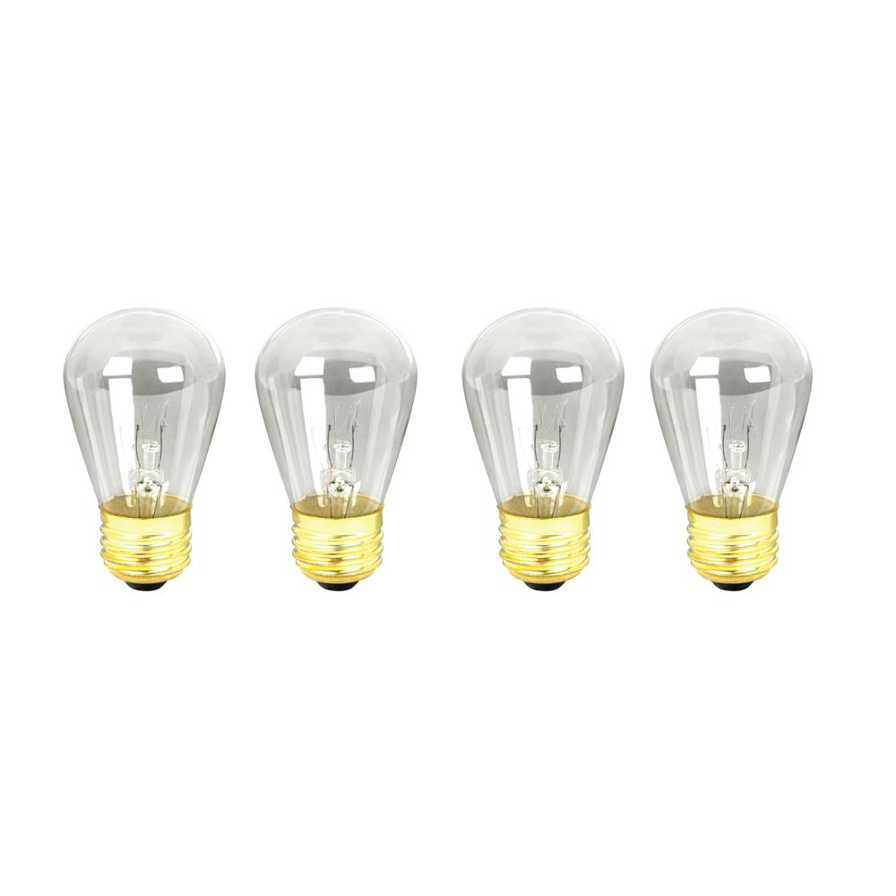 11-Watt Soft White (2700K) S14 Dimmable Incandescent String Light Bulb (4-Pack)