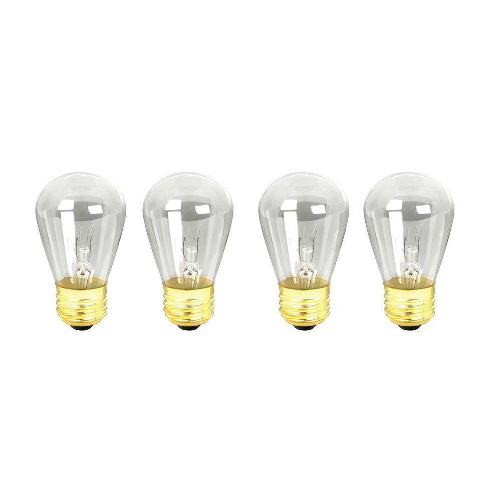 11-Watt Soft White (2700K) S14 Dimmable Incandescent String Light Bulb (4-Pack)