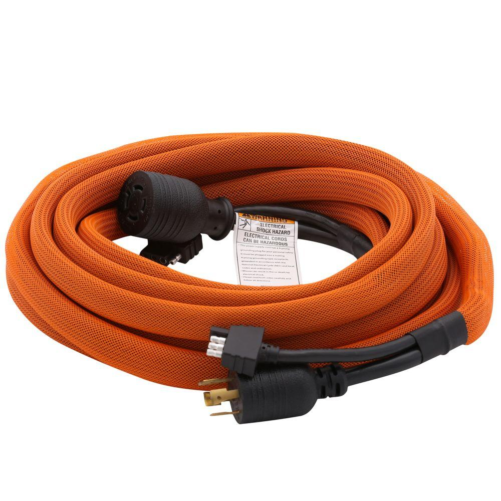 Ridgid 25 Ft Generator Extension Cord Rdec25 The Home Depot