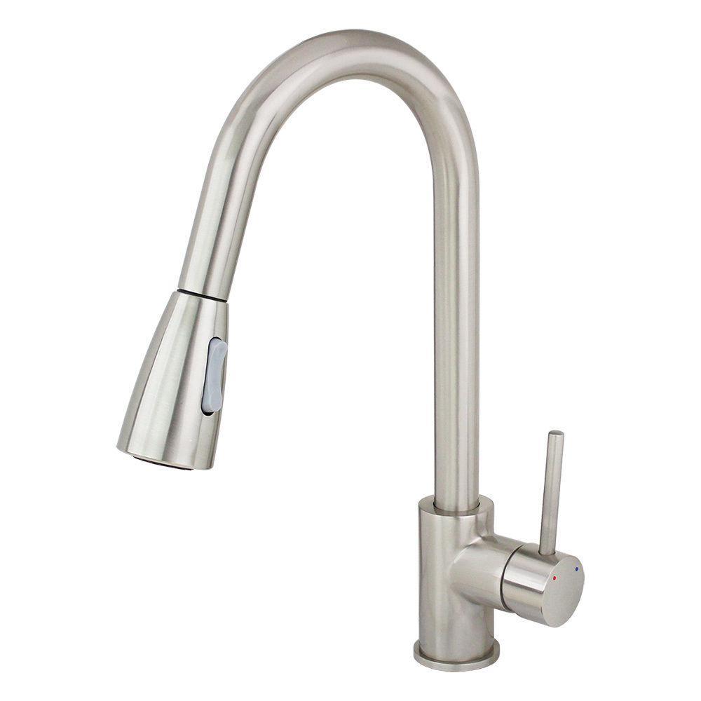 Kokols Single Handle Pull Down Sprayer Kitchen Faucet