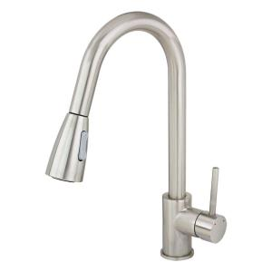 Kokols Single Handle Pull Down Sprayer Kitchen Faucet In Stainless Steel