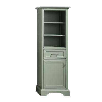 Windlowe 22 in. W x 16 in. D x 65 in. H Floor Linen Tower in Sea Green