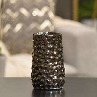Gold Polished Chrome Ceramic Decorative Vase