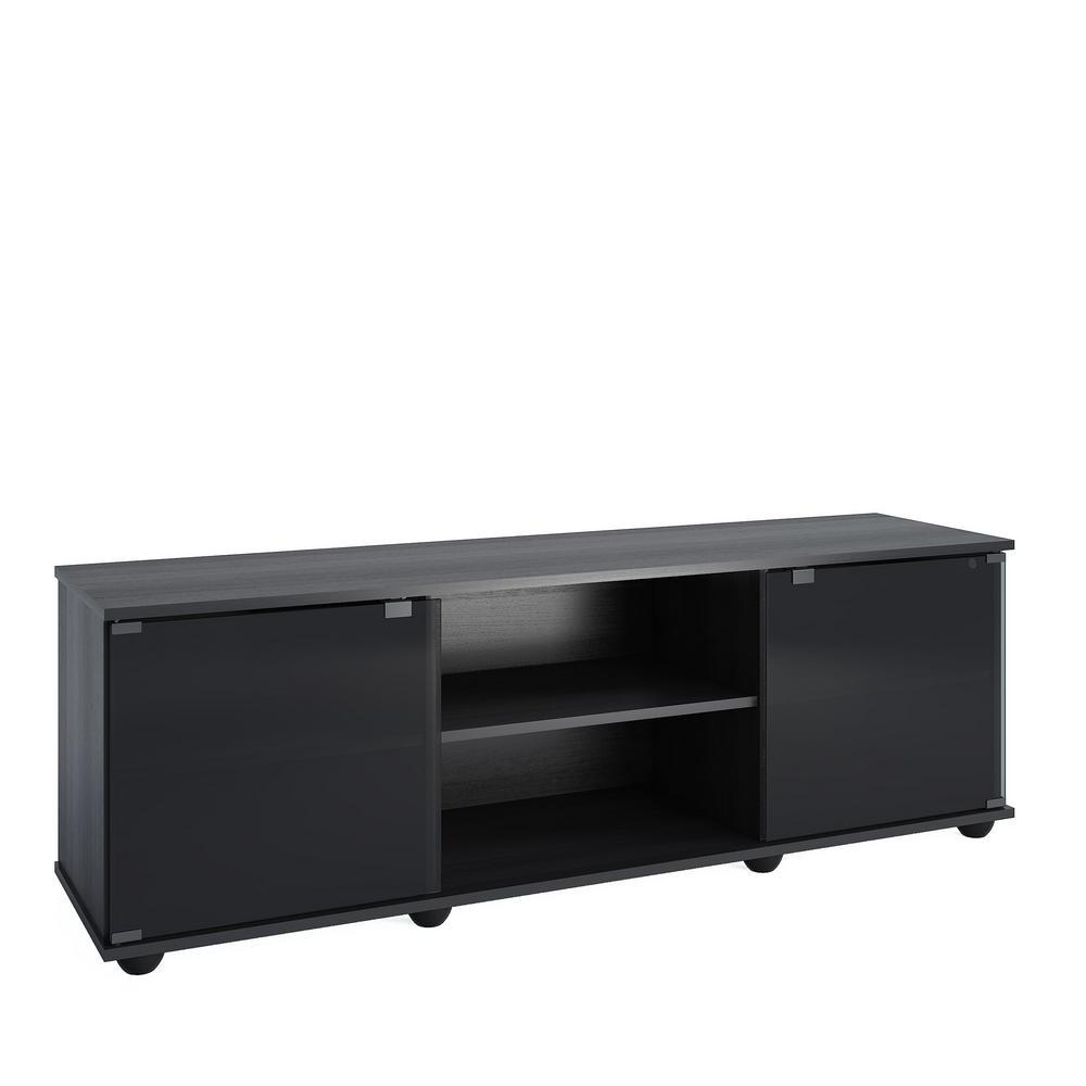 Fiji Ravenwood Black TV Bench for TVs up to 64 in.