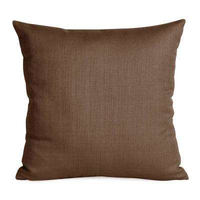 Sterling Gray Chocolate 20 in. x 20 in. Decorative Pillow