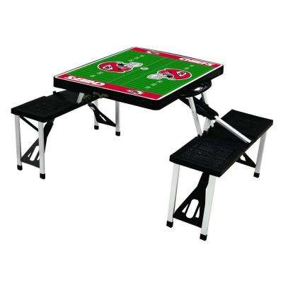 Kansas City Chiefs Sport Plastic Outdoor Patio Picnic Table