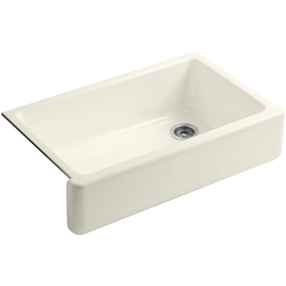 KOHLER Whitehaven Undermount Apron-Front Cast Iron 36 in. Single ...