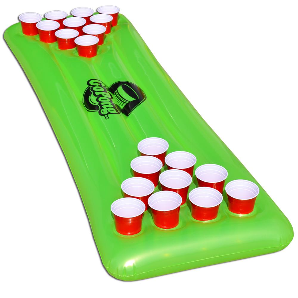 Gofloats Pool Pong Table Inflatable Floating Beer Pong Table Includes 3 Pong Balls Ppt 01 The Home Depot