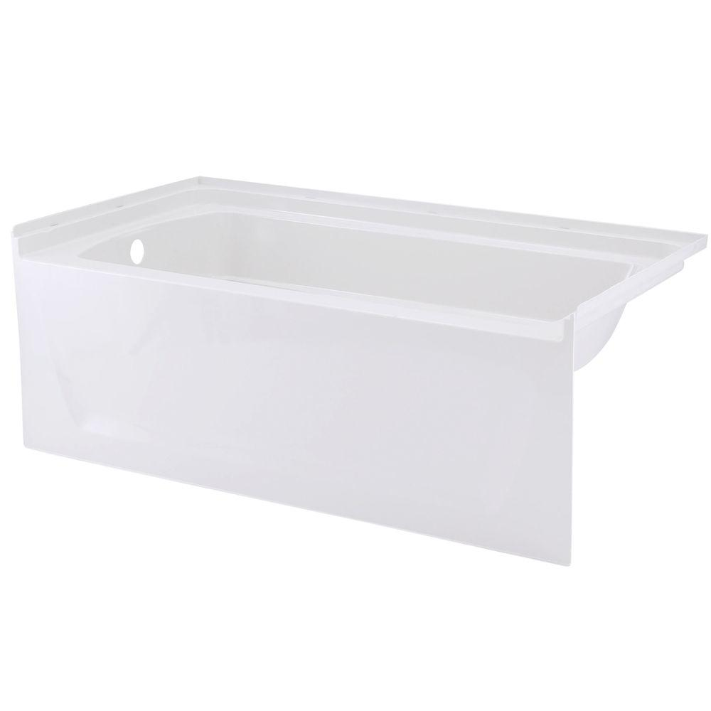 Sterling ensemble 5 ft left drain rectangular alcove for Deep alcove bathtubs