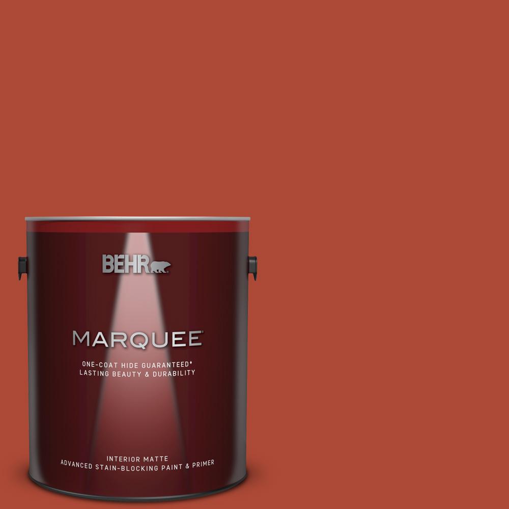 Behr Marquee 1 Gal Mq4 35 Torch Red One Coat Hide Matte Interior