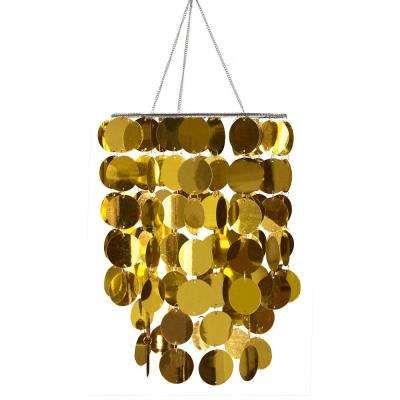 26.5 in. x 10.25 in. Gold Eclipse Chandelier