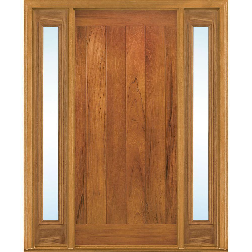 36 in. x 80 in. AvantGuard Flagstaff Left Hand Finished Smooth Fiberglass Prehung Front Door No Brickmold and Sidelites