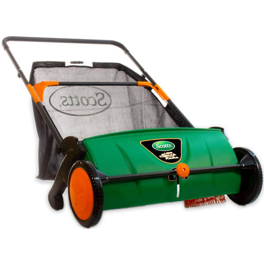 Scotts Scotts 26 in. Sweep-It Push Lawn Sweeper with 3.6 Bushel Collection Bag