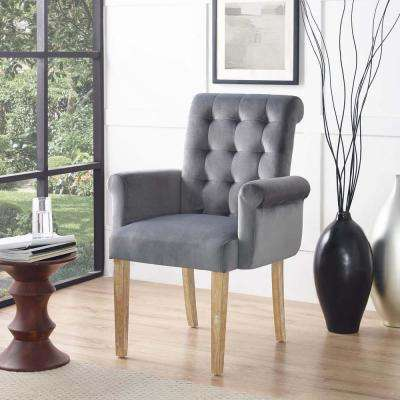 Premise Velvet Armchair In Gray