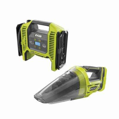 18-Volt ONE+ Dual Function Inflator/Deflator with 18-Volt ONE+ Lithium-Ion Cordless Hand Vacuum (Tools Only)