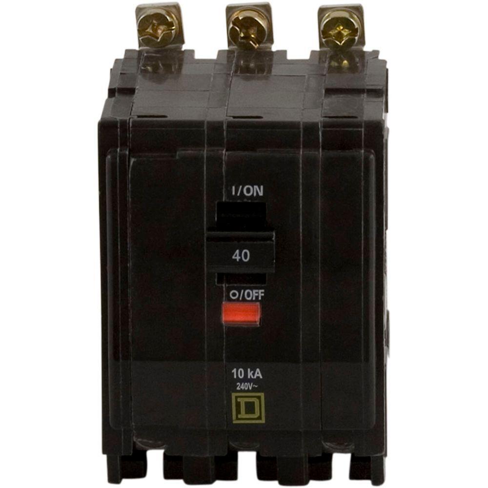 Square D Qo 40 Amp 3 Pole Bolt On Circuit Breaker Qob340 The Home Klein Tools Digital Finder Depot Canada