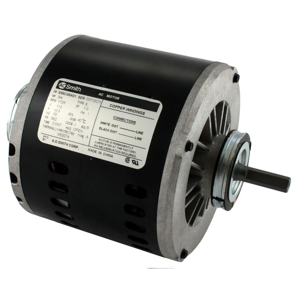 Hvac Motors Parts Accessories The Home Depot Testing Car Blower Fan Replacement And Electrical Like A Pro 115 Volt 3 4 Hp Evaporative Cooler Motor