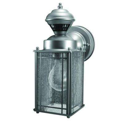 Shaker Cove Mission 150 Degree Silver Motion Sensing Outdoor Lantern
